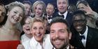 The legendary 2014 Oscar selfie featuring Ellen DeGeneres, Bradley Cooper, Meryl Streep, Brad Pitt, Julia Roberts and more. Photo / Twitter