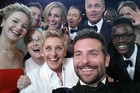 The legendary 2014 Oscar selfie featuring Ellen DeGeneres, Bradley Cooper, Meryl Streep, Brad Pitt, Julia Roberts and more. Photo / Twitter