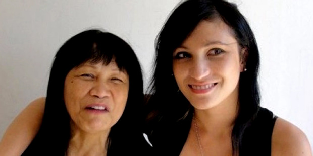 Warriena Wright with her mother Marzabeth. Photo: Channel 9 / Supplied