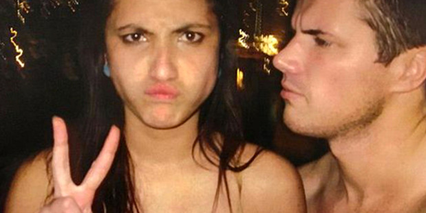 Gable Tostee and Warriena Wright on the night she died. Photo / Supplied