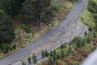 Earthquake damage on State Highway One north of Kaikoura. Photo / File