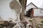 Damage to historic church in Waiau. Photo / Mike Scott