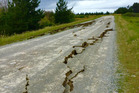 Damage to State highway 70 to Waiau following the 7.8M earthquake. Photo / Supplied