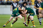 Tohu Harris - set for the halves in the Four Nations final. Photo / Mark Mitchell