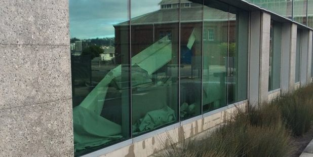 The Statistics New Zealand building in Wellington suffered extensive damage in Monday's quakes. Photo / Supplied