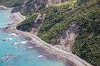 Aerial shots of SH1 south of Kaikoura. Photo / Mark Mitchell