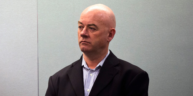 Stephen Borlase appears in the Auckland High Court on charges multi-million dollar bribery charges. Photo / Jason Oxenham