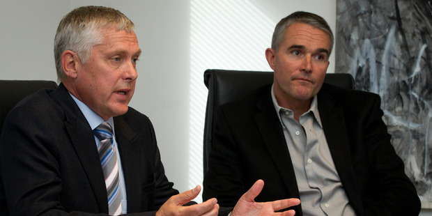 Abano Healthcare shareholders, Peter Hutson (L) and James Reeves want to buy 30.99 per cent of the company to build a controlling 50.01 per cent stake in Abano. Photo / NZME