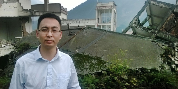 Yingxiu mayor Liu Zhihong at the ruins of Xuankou Middle School, in Sichuan Province, China, where 55 people were killed in a magnitude 8.0 earthquake that struck on May 12, 2008. Photo / Jamie Morton