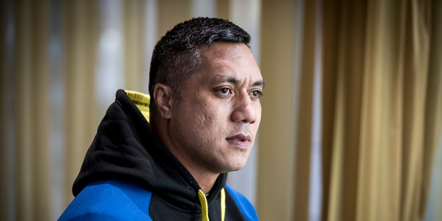 Former Warriors rugby league player Sione Faumuina. Photo / Michael Craig.
