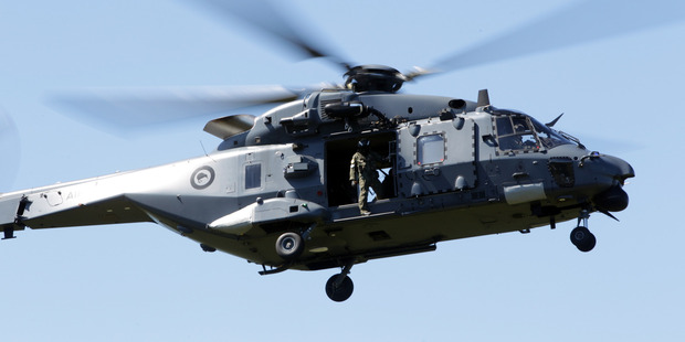 An RNZAF NH90 helicopter has been deployed to transport emergency supplies for Civil Defence in Kaikoura, Hurunui and Marlborough. Photo / File