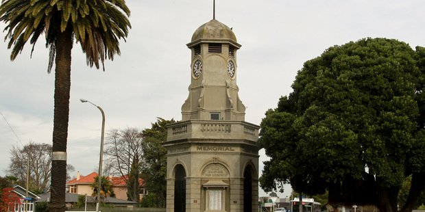 The Taradale clock has been repeatedly affected by earthquakes and again was halted by this week's big shake. Photo: Warren Buckland