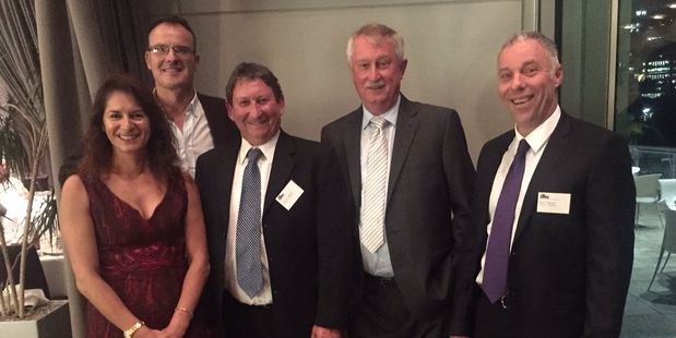 Trustees of the Scanpower Customer Trust: Rowena Bowie, left, Myles McKeefry, Keith Cammock, (chairman), Stuart Smith and Bill Taylor.