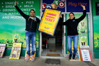 Sunnyside Foodmarket owners Ketan Patel and Sejai Patel were excited after selling the $5.5m winning Lotto ticket which has been claimed. PHOTO/JOHN STONE