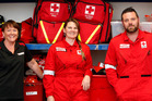 Northland Red Cross volunteers from left, Donna Collins, Victoria Randall and Steve Harwood have set off on another disaster welfare deployment.  PHOTO/JOHN STONE PHOTO/JOHN STONE