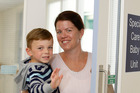 Nerissa Haselden with 4-year-old Max who is thriving after being born at 25 weeks' gestation. Photo / Michael Cunningham