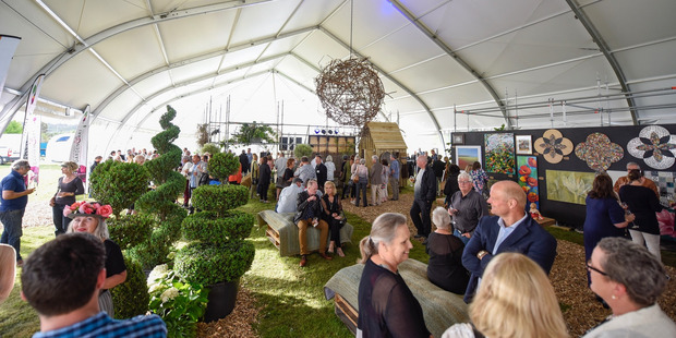 The Garden and Art Festival hub at The Lakes was buzzing with people for the opening night. PHOTO/GEORGE NOVAK