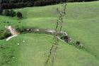 Ruptures in farmland around Conway near Kaikoura, after the 7.5 magnitude earthquake. Photo / SNPA