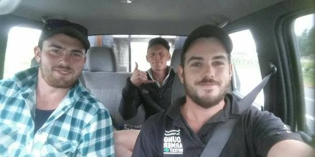 Loading Tyler Fifield (at wheel), Josh Tomlinson-Nott and Michael Kerr went in search of those in remote communities affected by the Kaikoura Earthquake. Picture / supplied