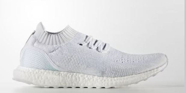The company has teamed up with Parley for the Oceans to create the shoes, which are made from 95 per cent ocean plastic. Photo / Adidas