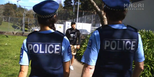 Kahu confronts some cops who were spotted acting suspiciously in Taiohi 10/7.