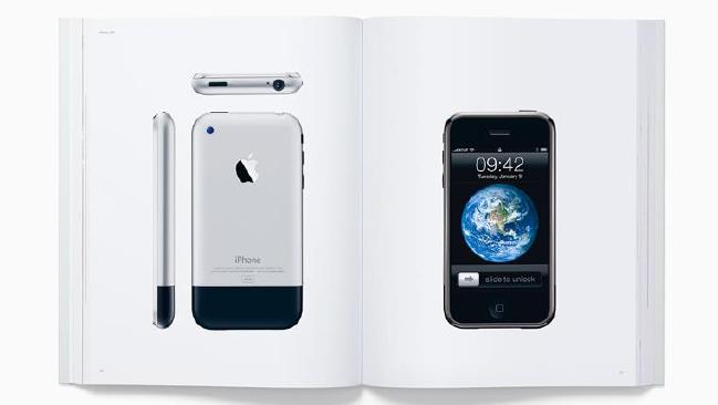 In addition to the pictures of its products, the book has been dedicated to the memory of Steve Jobs.