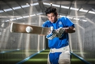St Kentigern College First XI cricketer Sandeep Patel is managing his time well as he combines cricket with his Year 13 studies. Photo / Greg Bowker