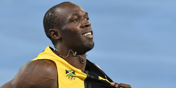 Jamaica's Usain Bolt celebrates winning the gold medal in the men's 4x100-metre relay final. Photo / AP