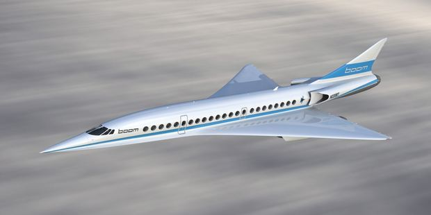 The 'Baby Boom' will be able to make the journey from Los Angeles to Sydney in just under seven hours. Photo / Boom Supersonic