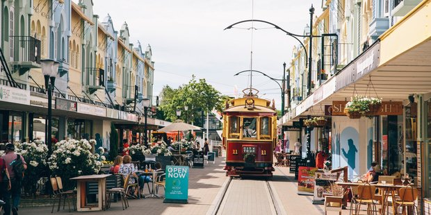New Regent Street in Christchurch, one of the many places tourists are being told is safe to visit. PHOTO/SUPPLIED