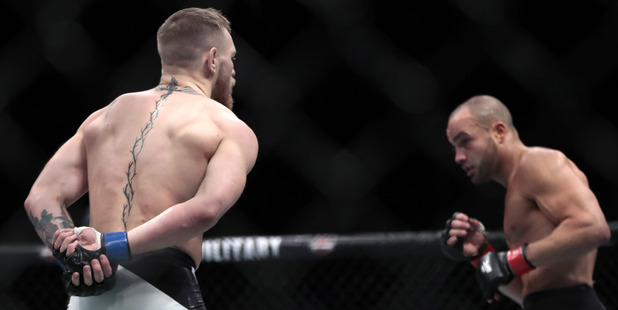 The most iconic image of UFC 205. Photo / AP