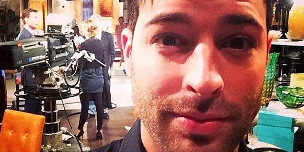 Happy day at work: In this Instagram photo the star is seen on the set of Young and the Restless. Photo / Instagram