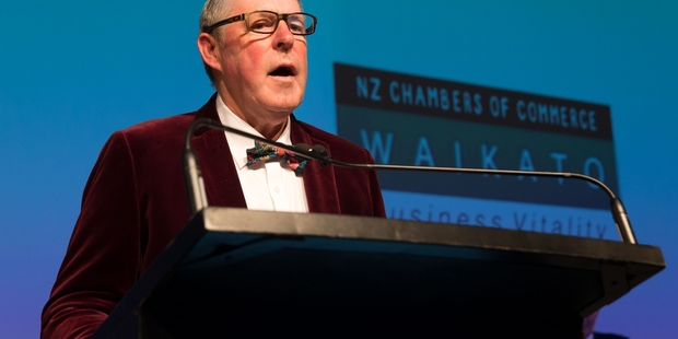 Bernie Crosby was inducted into the Waikato Business Hall of Fame. Photo / Stephen Barker of Barker Photography