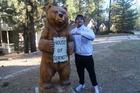 Andy Ruiz Jr is in training at Big Bear Lake. Photo / Patrick McKendry