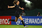 Tayla Christensen of New Zealand celebrates after scoring against Ghana. Photo / Getty