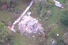 Elms homestead damaged from the quake in Kaikoura. Photo / One News