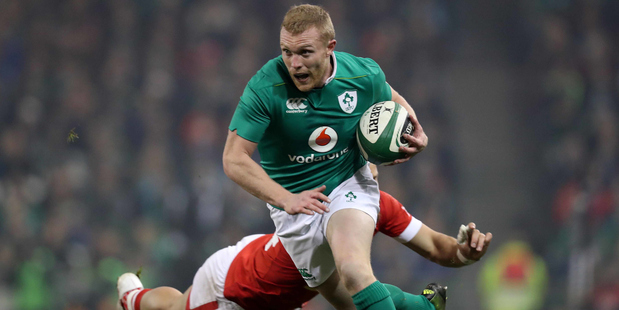 Kieth Earls and Ireland are not being backed by the TAB to come away with a second consecutive win against the All Blacks in Dublin this weekend. Photo / Photosport