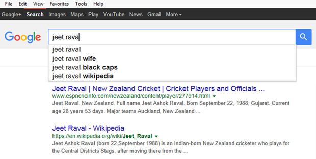 Pakistan have been Googling Jeet Raval.