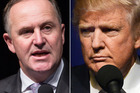 Prime Minister John Key and US President-elect Donald Trump have spoken on the phone about the Kaikoura earthquake and the TPP.