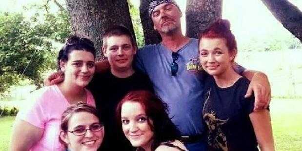 Maynor, second from right, killed Raymond Earl Brooks for abusing daughter, Julia Maynor, left, in pink. Photo / Facebook