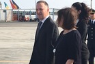 PM John Key and wife Bronagh arrive in Lima. Photo / Claire Trevett