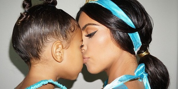 North and Kim share a special moment. Photo / kimkardashianwest.com