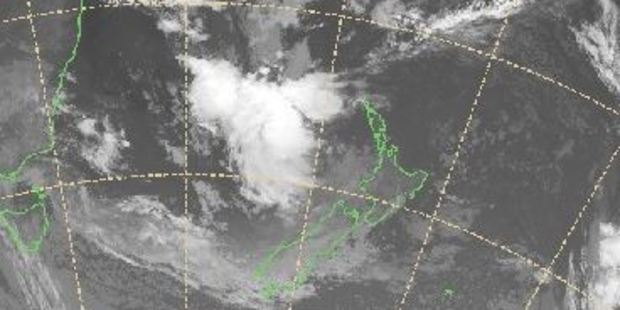Loading The system is lying off the west coast of New Zealand and is scheduled to hit later today. Image / MetService