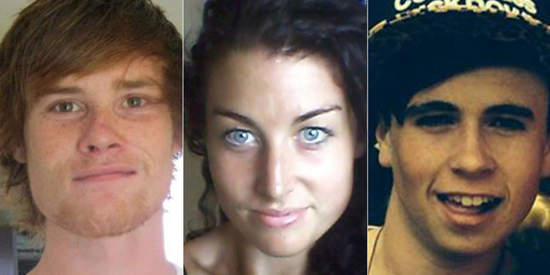 Jake Hayes, Toni Maree Johnston and Connor Swetman all died in a house fire in Hamilton. Photos / Supplied