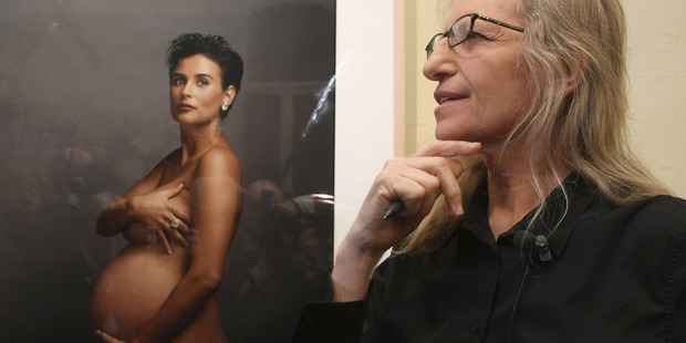 Demi Moore was seven months pregnant when Annie Leibovitz photographed her in 1991 for the cover of Vanity Fair magazine. Photo / Getty Images