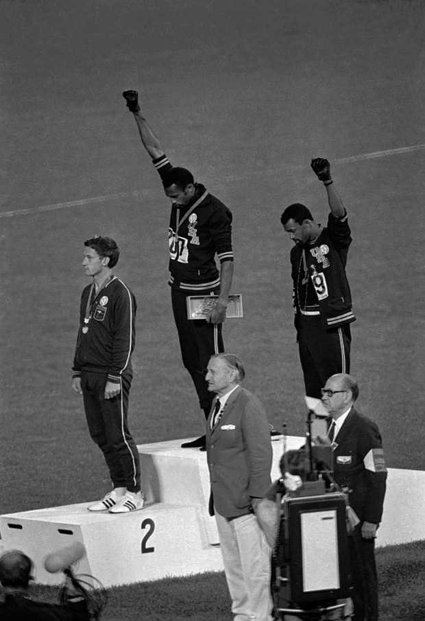 John Dominis's Black Power Salute shattered the illusion that all was right in the world in 1968. Photo / AP