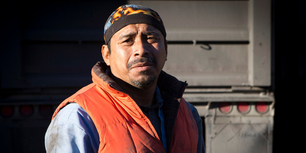 Juan Lopez, 42, works at Double R Trucking in Coeburn, Va. Photo by Julia Rendleman for The Washington Post