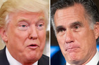 An unlikely alliance? Donald Trump and Mitt Romney. Photos / AP