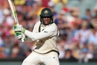 Usman Khawaja defied the South African bowlers as Australia built a handy lead. Photo / AP