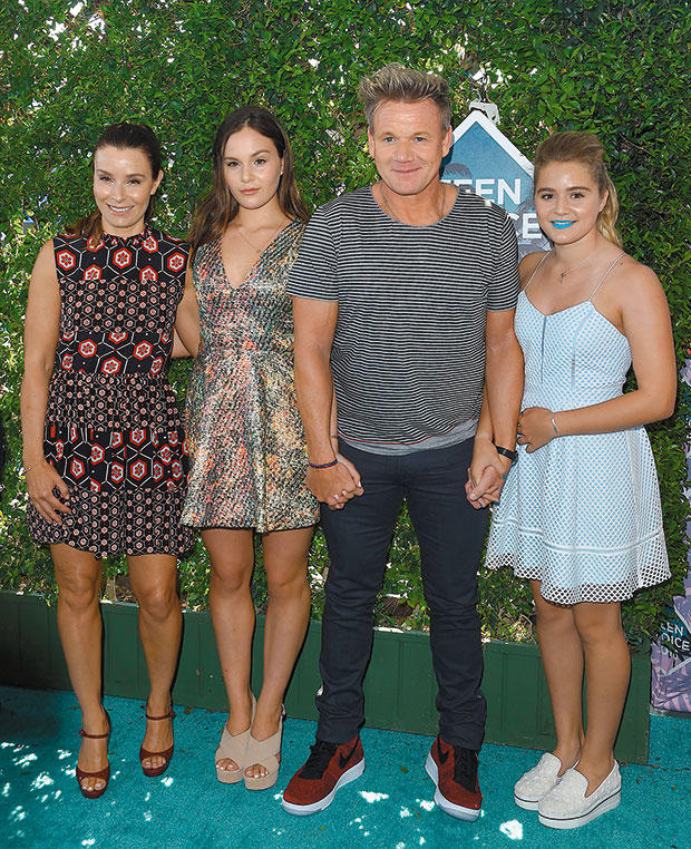 Ramsay with wife Tana (left) and daughters Megan and Holly. Photo /  Film Magic